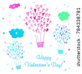 romantic collection. happy... | Shutterstock .eps vector #784338781