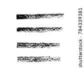brush stroke set. chalk.... | Shutterstock .eps vector #784339381