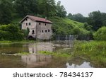 River mill near Pamplona, Spain - stock photo