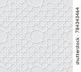 arabesque star pattern with... | Shutterstock .eps vector #784343464