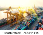 container container ship in... | Shutterstock . vector #784344145