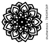 mandalas for coloring book.... | Shutterstock .eps vector #784349269
