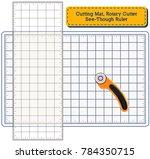 cutting mat  rotary blade... | Shutterstock .eps vector #784350715