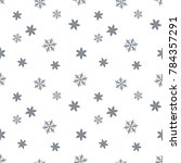 snowflakes seamless pattern.... | Shutterstock .eps vector #784357291