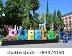 puebla  mexico   oct 26th  2017 ... | Shutterstock . vector #784374181