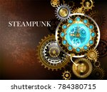 steampunk composition of... | Shutterstock .eps vector #784380715