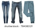 jeans isolated on white... | Shutterstock . vector #78438319