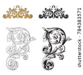 classical baroque vector set of ... | Shutterstock .eps vector #784383571