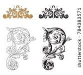 classical baroque vector set of ... | Shutterstock .eps vector #784383571