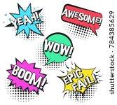 bright contrast retro comic... | Shutterstock .eps vector #784385629