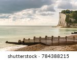 white cliffs and beach at the... | Shutterstock . vector #784388215