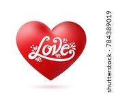 happy valentines day typography ... | Shutterstock .eps vector #784389019