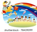 happy and joyful child with... | Shutterstock .eps vector #78439099