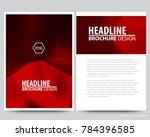 abstract vector modern flyers... | Shutterstock .eps vector #784396585