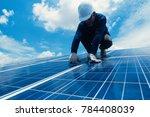 engineer team working on... | Shutterstock . vector #784408039