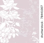 floral invitation for life... | Shutterstock . vector #78441007