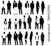 isolated silhouettes set people | Shutterstock .eps vector #784415941