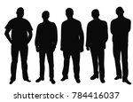 vector  isolated silhouette of... | Shutterstock .eps vector #784416037
