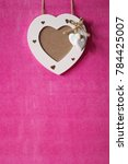 hearts on pink background... | Shutterstock . vector #784425007