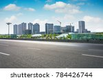 city park under blue sky with... | Shutterstock . vector #784426744