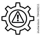 a cogwheel with an alert sign... | Shutterstock .eps vector #784428211