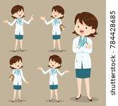 smart doctor presenting in... | Shutterstock .eps vector #784428685