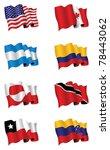 american flags | Shutterstock .eps vector #78443062