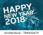 happy fitness new year | Shutterstock . vector #784432675