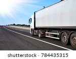 truck on road with grey... | Shutterstock . vector #784435315