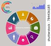 business infographics. pie... | Shutterstock .eps vector #784436185
