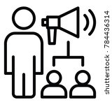 people and a megaphone... | Shutterstock .eps vector #784436314