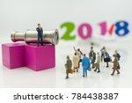 miniature people  business man... | Shutterstock . vector #784438387