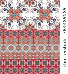 ethnic endless ornamental... | Shutterstock .eps vector #784439539