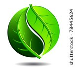 green symbol concept using yin... | Shutterstock .eps vector #78445624