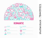 romantic concept in half circle ... | Shutterstock .eps vector #784459321