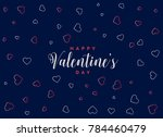 blue background with hearts... | Shutterstock .eps vector #784460479