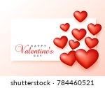 happy valentine's day greeting... | Shutterstock .eps vector #784460521