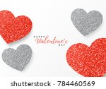 happy valentine's day greeting... | Shutterstock .eps vector #784460569