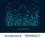 digital code diagram for... | Shutterstock .eps vector #784460617