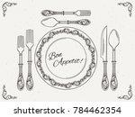 banquet tableware. vintage dish ... | Shutterstock . vector #784462354