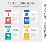 scholarship infographic icons | Shutterstock .eps vector #784464265