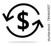 money arrow icon   Shutterstock .eps vector #784464307