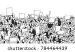 black and white illustration of ... | Shutterstock .eps vector #784464439