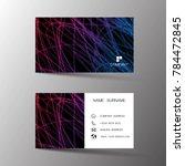 modern business card template...   Shutterstock .eps vector #784472845