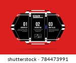 hi tech template with three... | Shutterstock .eps vector #784473991