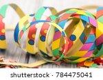 streamer background for birthday | Shutterstock . vector #784475041