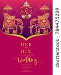 indian wedding invitation... | Shutterstock .eps vector #784475239