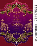 indian wedding invitation... | Shutterstock .eps vector #784475311