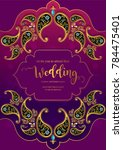 indian wedding invitation... | Shutterstock .eps vector #784475401