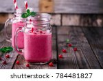Pink Smoothie With Wild...